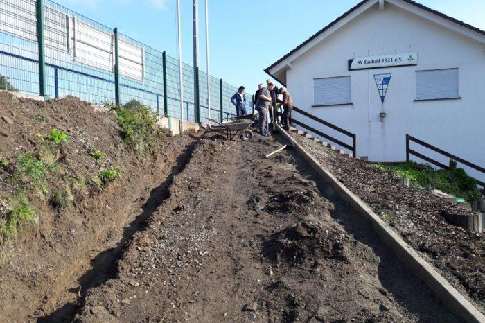 Erneuerung Zugang Sportlerheim