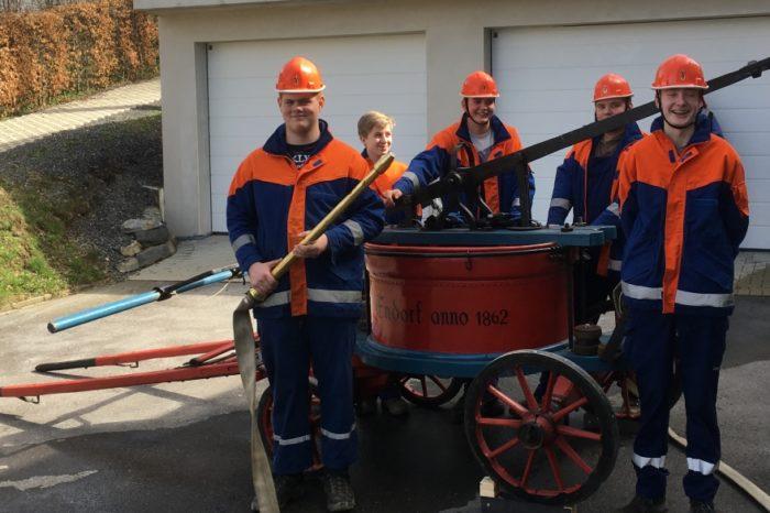 Historische Feuerwehrspritze wieder instand gesetzt.