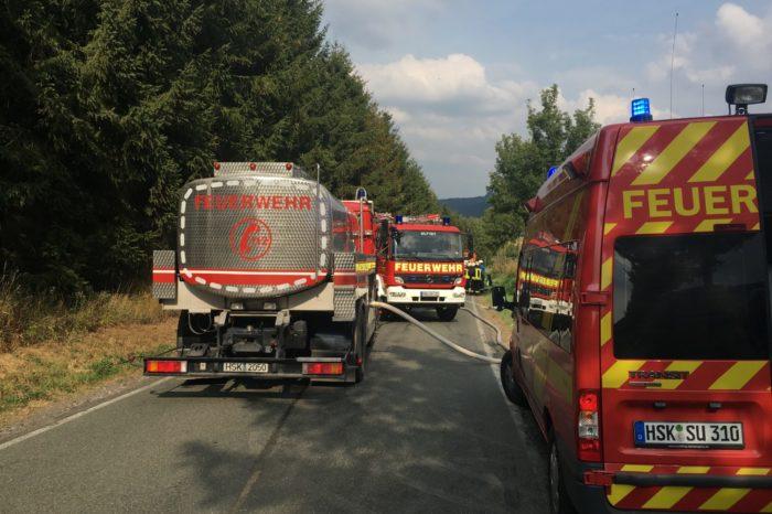 Waldbrand in Bönkhausen