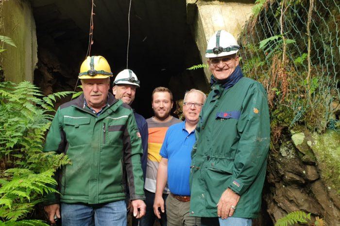 Bürgermeister Brodel besichtigt Bönkhauser Bergbau