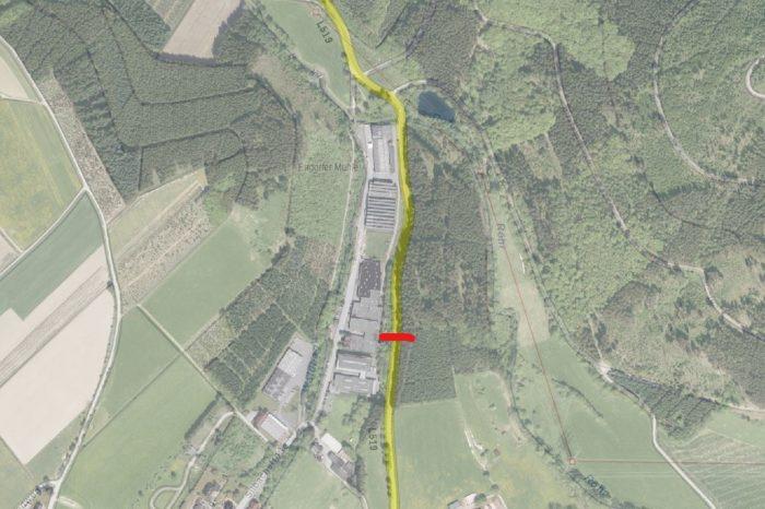 Landstraße L 519 zwischen Endorf und Recklinghausen bis auf weiteres gesperrt